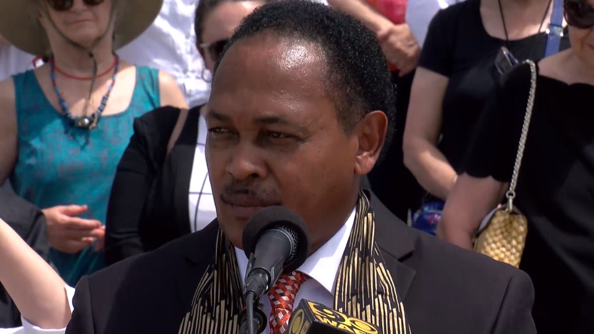 Louisiana Legislative Black Caucus holds a news conference to express concern for several bills...