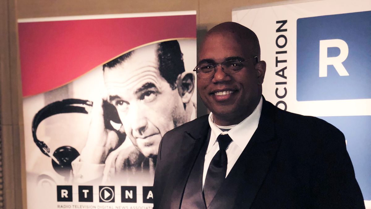 Robert Hollins at the Edwards R. Murrow awards ceremony in New York City