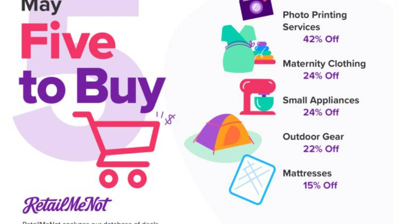Five Things to Buy in May (RetailMeNot.com)