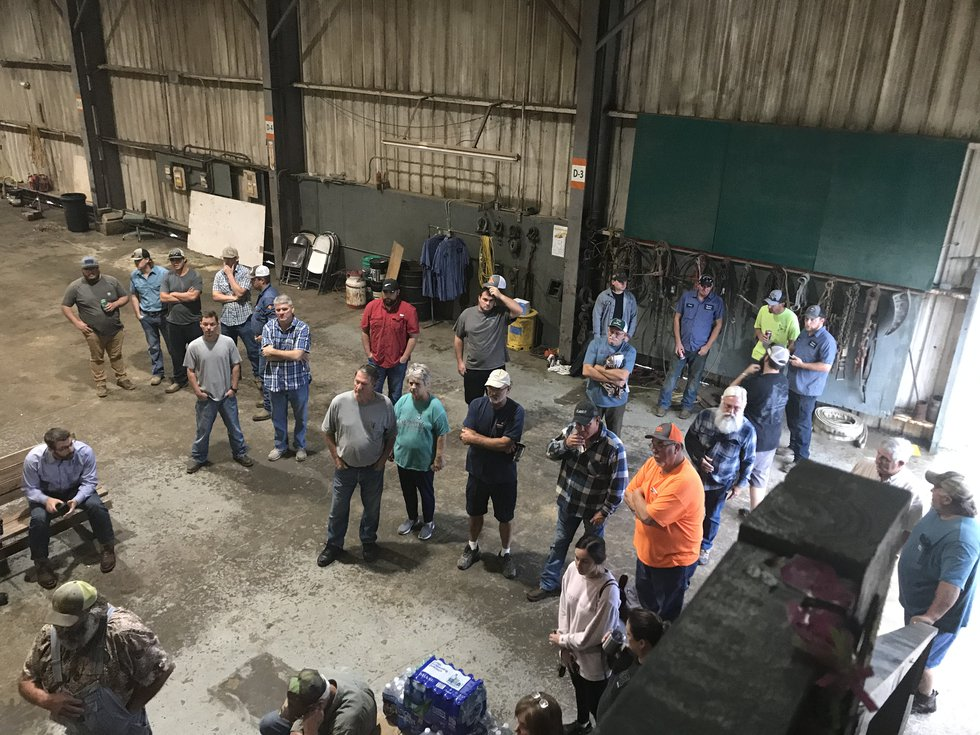 More than 60 people showed up to where Rocky Pierce works, Feliciana Welders, on Wednesday,...