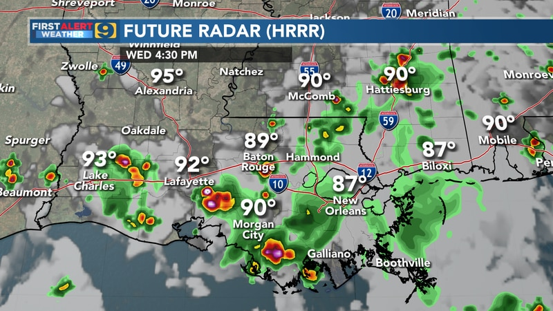 Future radar for Wednesday, August 11.
