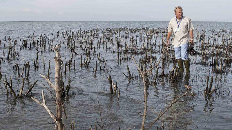 P.J. Hahn, the former Plaquemines Parish coastal director, surveys Cat Island in this Sept. 21,...