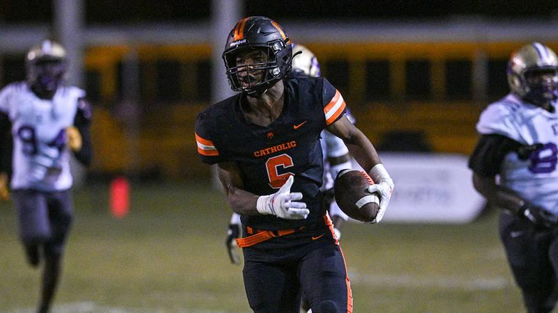 Catholic wide receiver Shelton Sampson Jr. (6)