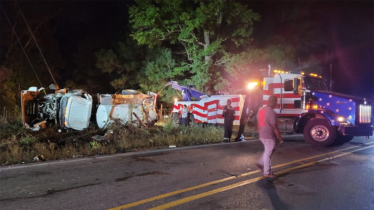 An 18-wheeler overturned on Greenwell Springs Road near Central on Thursday, Oct. 14.