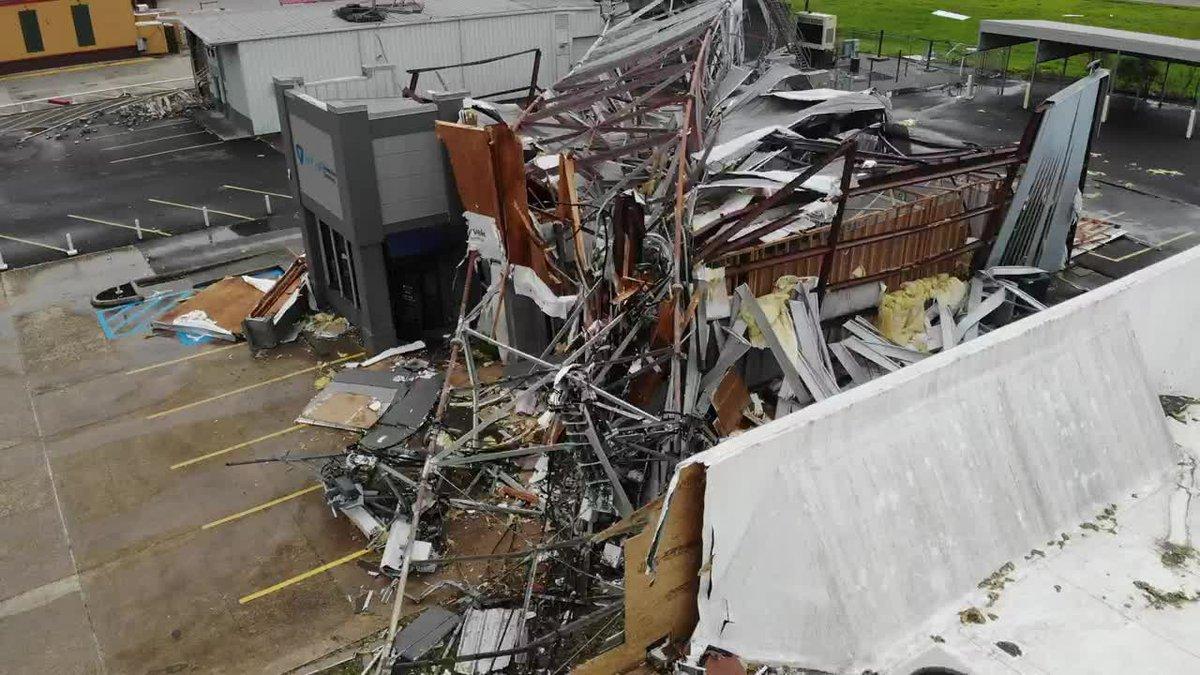 Damage from Hurricane Laura's landfall in Lake Charles, La.