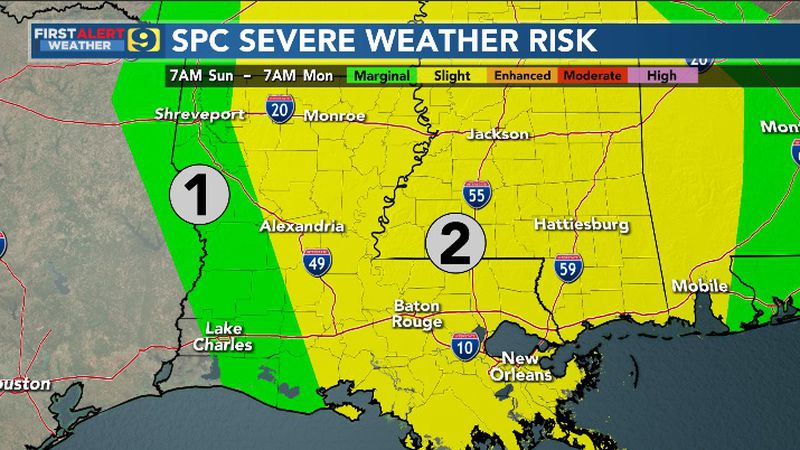 Severe Weather Risk for Sunday, May 2, 2021