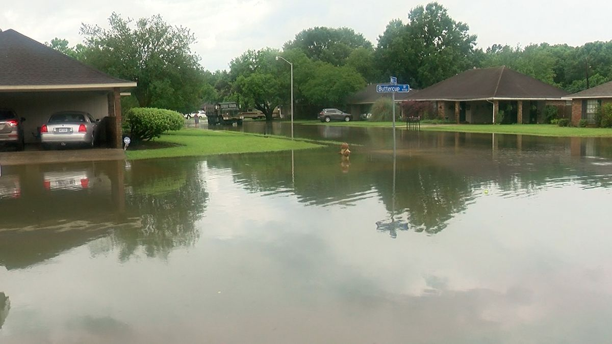 Residents living in neighborhoods near Ward Creek saw flooding after heavy rains on Monday, May...