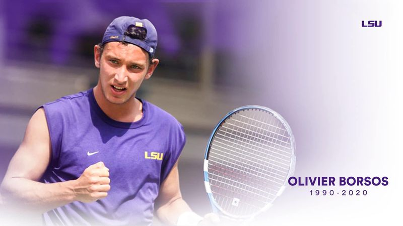 Former LSU tennis star Olivier 'Bear' Borsos has passed away according to LSU's Facebook page.