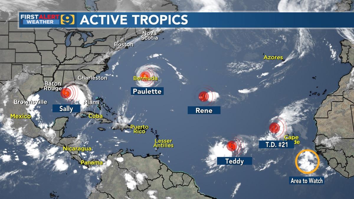Active Tropics Sept. 14, 2020.