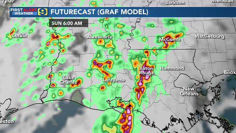 FIRST ALERT FORECAST: Saturday, May 1