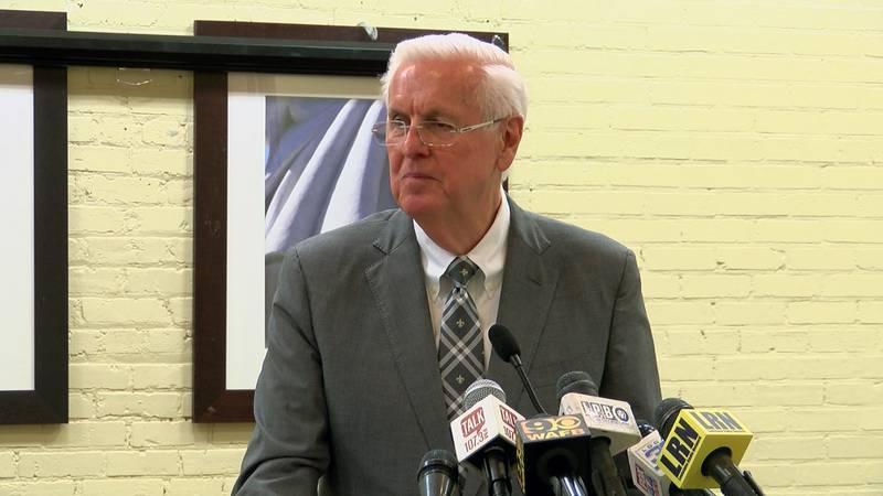 Louisiana Insurance Commissioner Jim Donelon speaks at Baton Rouge Press Club Monday, Feb. 17.