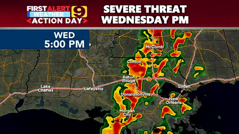 Strong severe storms are expected Wednesday, Oct. 27