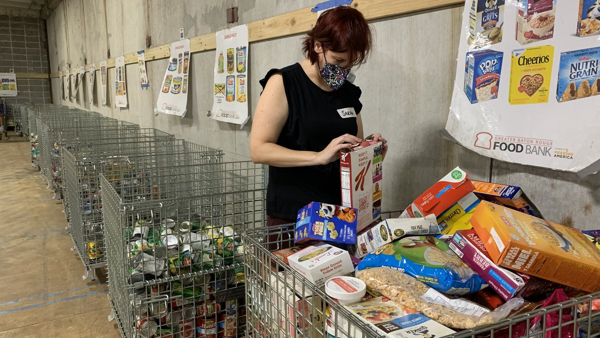 The Greater Baton Rouge Foodbank asks for more volunteers as they feed those affected by...