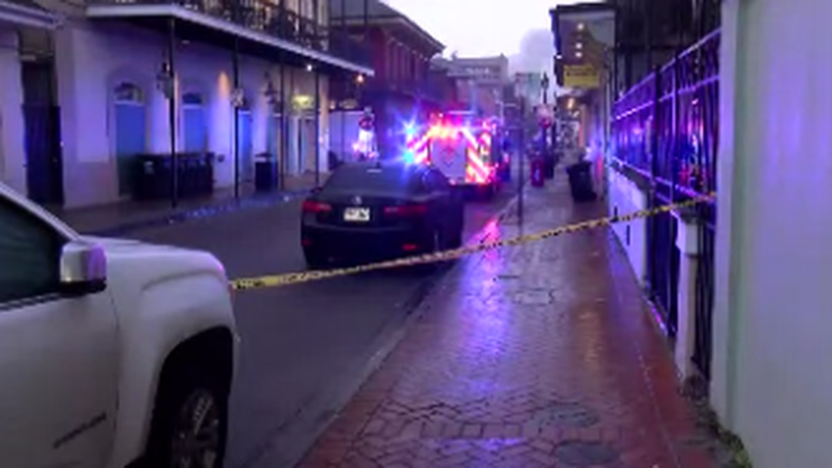 An explosion was reported in the French Quarter on Monday (Dec. 16). Police said a car might...
