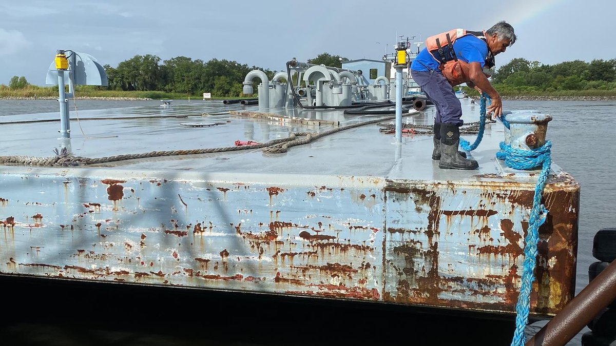 A barge carrying 420,000 gallons of water was expected to be loaded and shipped to Lafitte by...