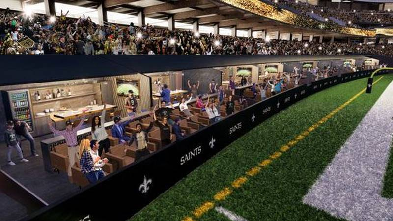 Beginning next season, the Mercedes-Benz Superdome will have 12 new field level suites