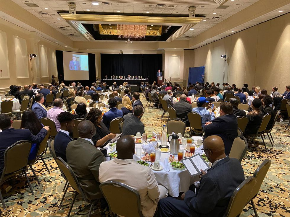 High school football players and their families attended the 2019 Warrick Dunn Awards on...