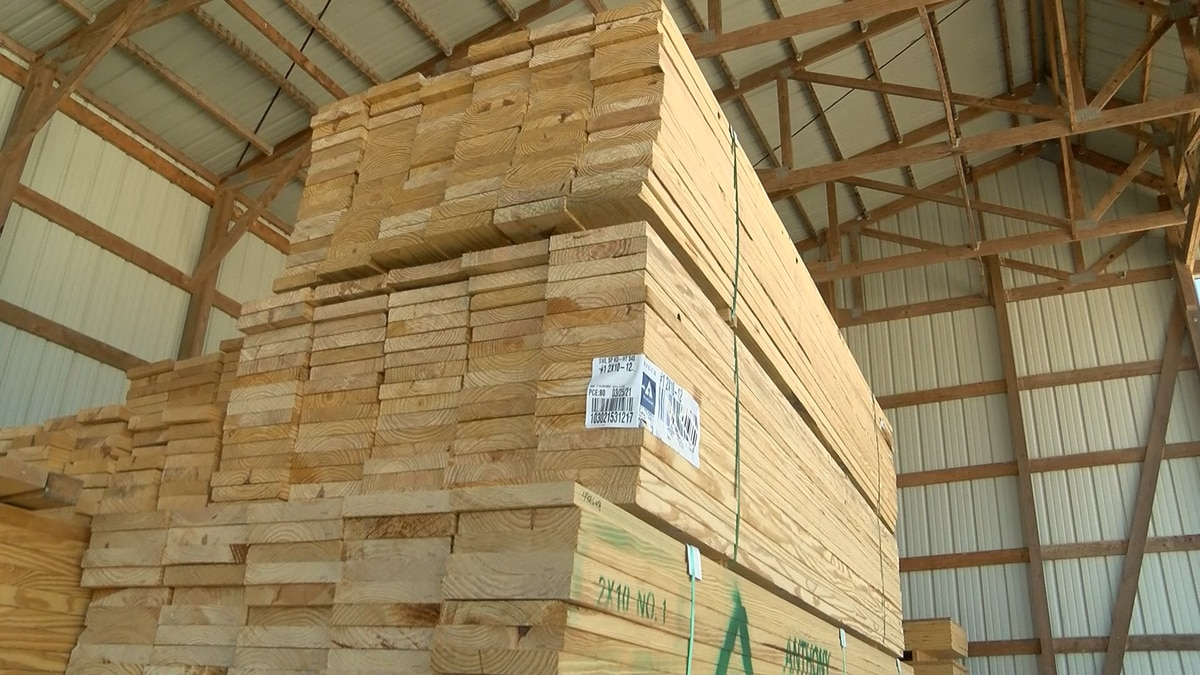 Lumber costs have increased as supplies have dipped due to the COVID-19 pandemic.