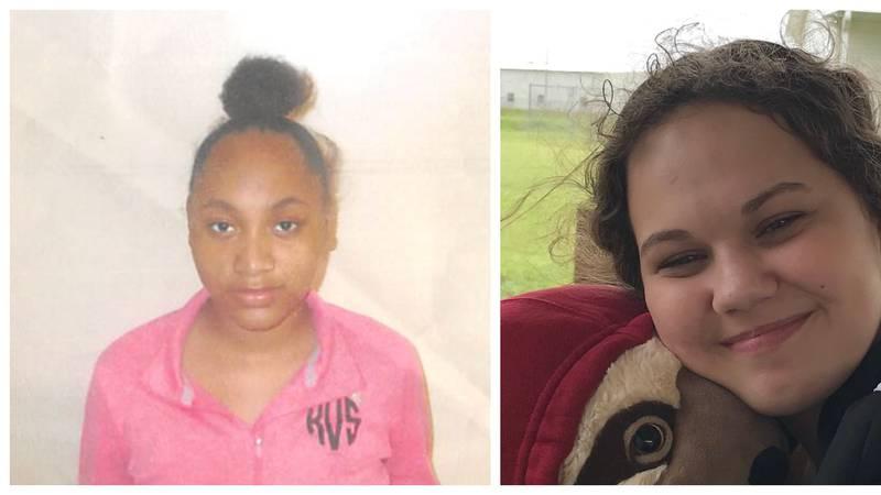 Camecia Harris, 15, & Nicole Arvel, 16, left Johnny Gray Jones Saturday, October 10.