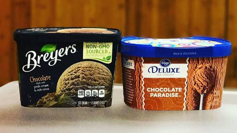 Brandefy tests out generic-branded items, including ice cream.