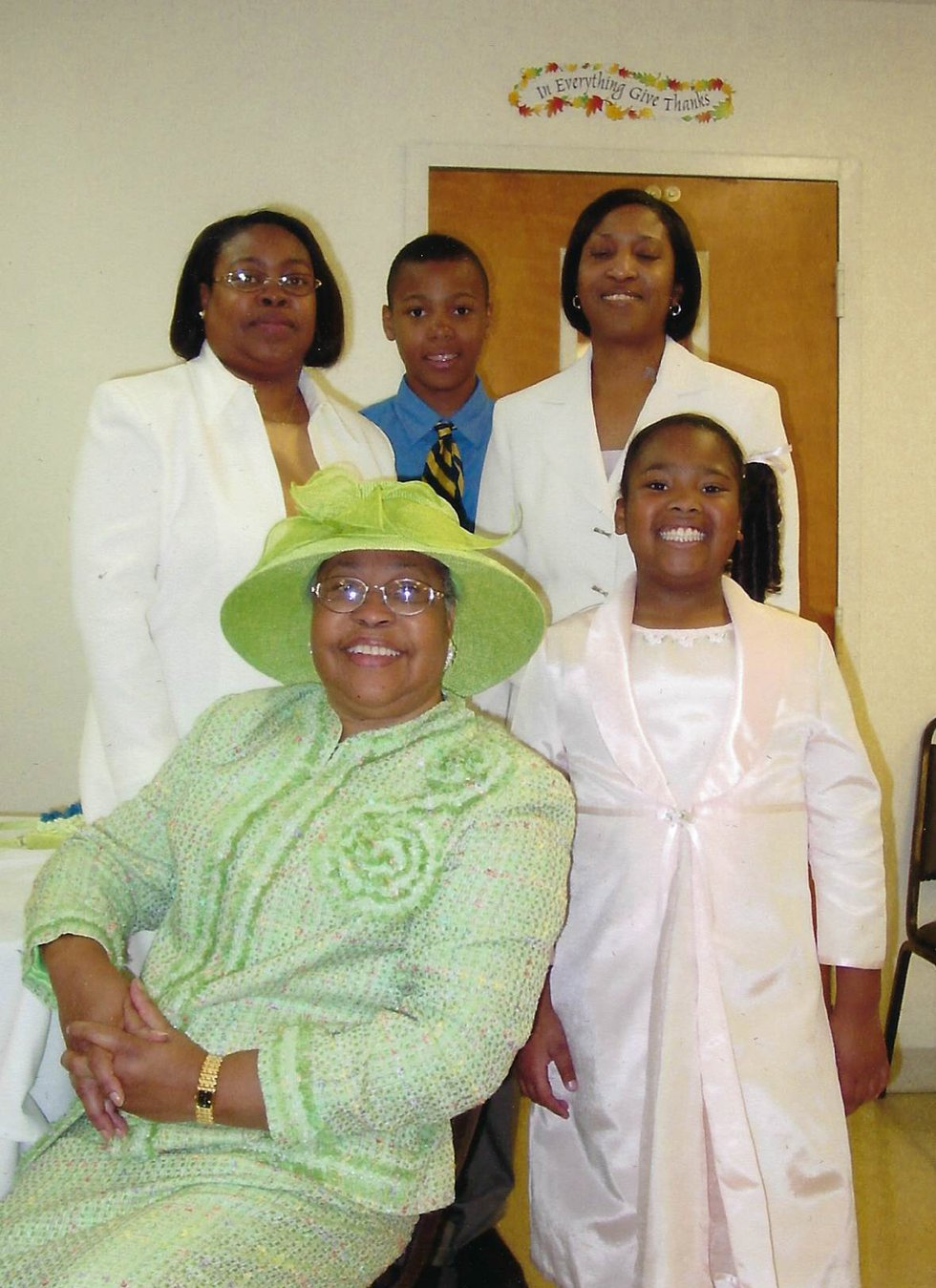 Christopher John Rogers grandmother at Greater Mount Gideon Baptist Church in Baton Rouge
