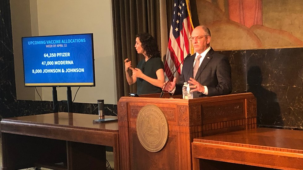 Gov. Edwards announces launch of statewide COVID-19 vaccine hotline; discusses agenda for upcoming legislative session