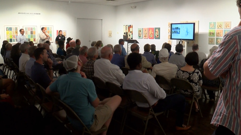 Dozens of people attended the open house to give their input about the master plan for the LSU...