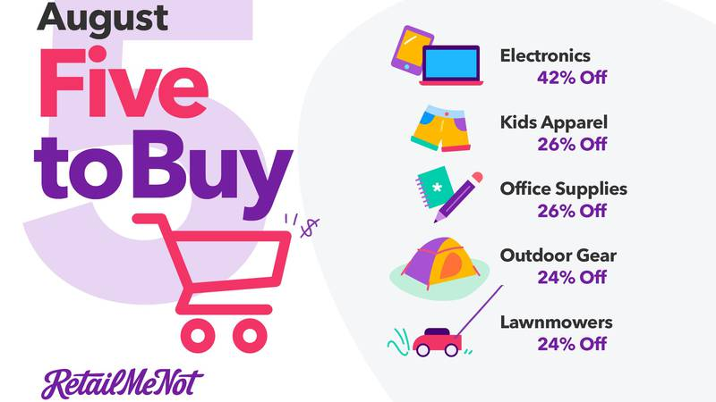 Top things to buy in August (RetailMeNot.com)