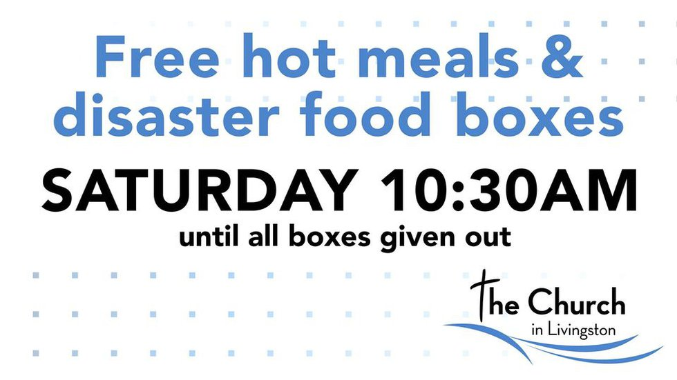 Free hot meals and disaster boxes will be distributed beginning at 10:30 a.m. at The Church in...