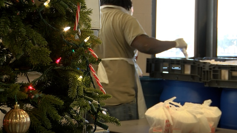 Several organizations step up to ensure the homeless community has a hot meal on Christmas...