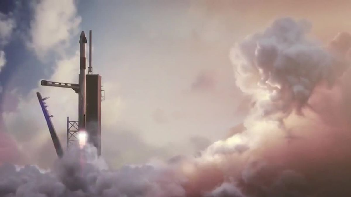 The joint NASA-SpaceX mission, the first manned crew flown into orbit by a private company, is...