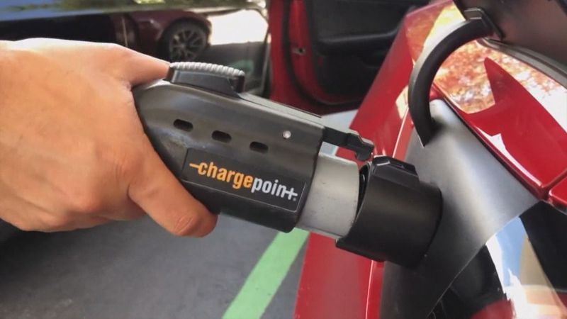 Plugging in an electric car