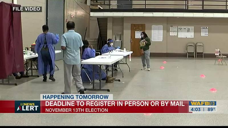 Deadline to register to vote for November election