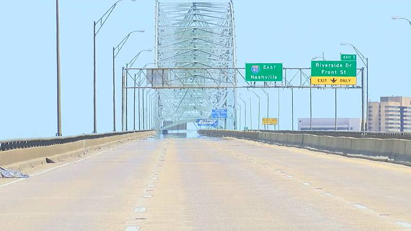 The bridge shut down has affected surrounding cities like West Memphis. The Office of Emergency...