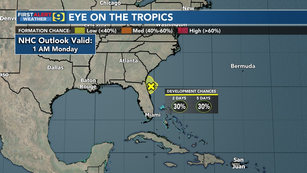 NHC outlook as of 1 a.m. Monday, July 26.