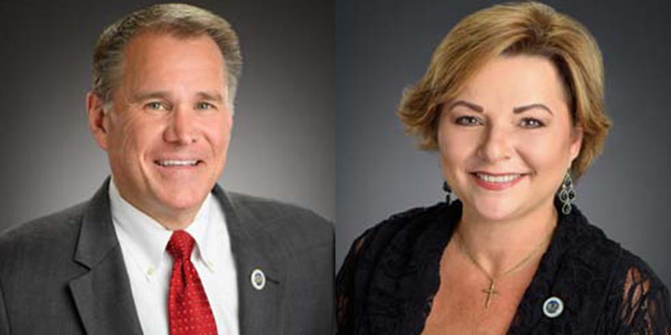 Rep. Alan Seabaugh (R-Shreveport) and Rep Malinda White (D-Bogalusa)