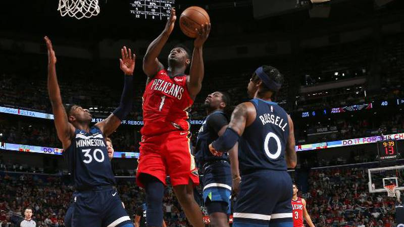 Zion Williamson scored 25 points and Jrue Holiday had 27 points, 12 assists and 10 rebounds for...