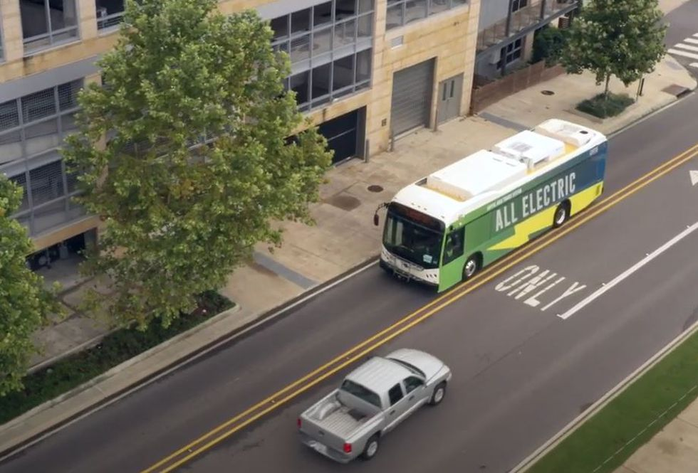 All electric busses are operating around the state.
