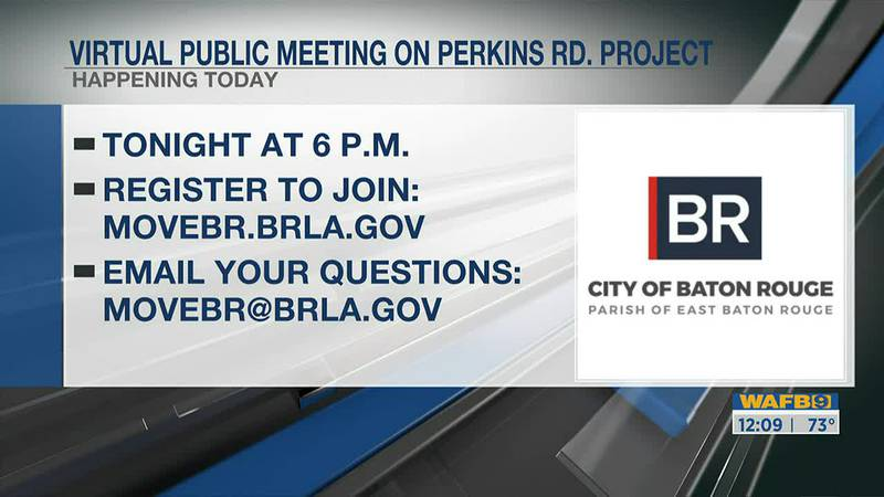Virtual public meeting on Perkins Road project