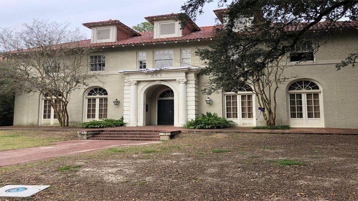 Delta Kappa Epsilon fraternity house in Baton Rouge. (Source: WAFB)