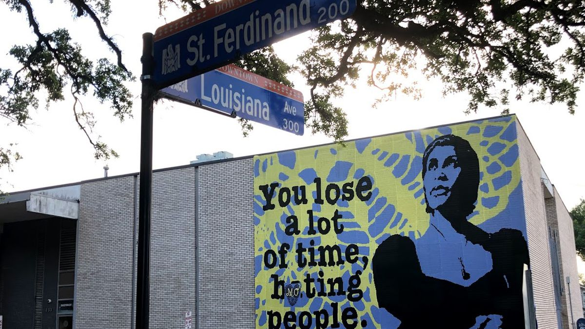 """""""Love Across the USA"""" is a series of public art murals conceptualized by New York-based artist..."""
