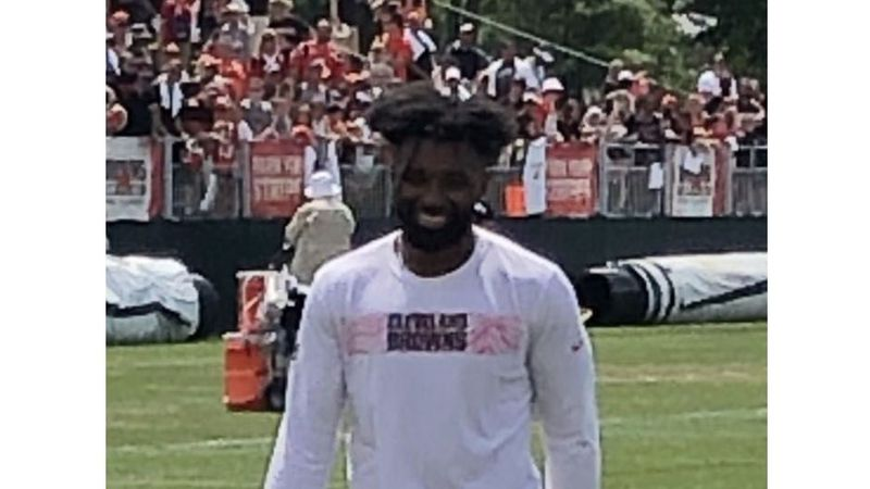 Jarvis Landry at Cleveland Browns training camp