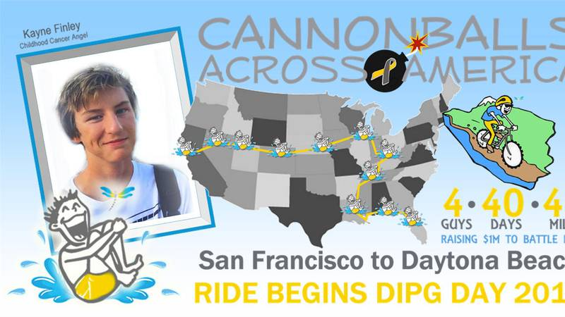 Cannonballs Across America is an initiative for the Cannonballs for Kayne Foundation