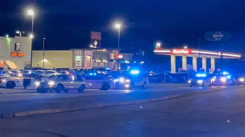 A man was found shot to death in a parking lot on South Sherwood Forest Boulevard near Coursey...