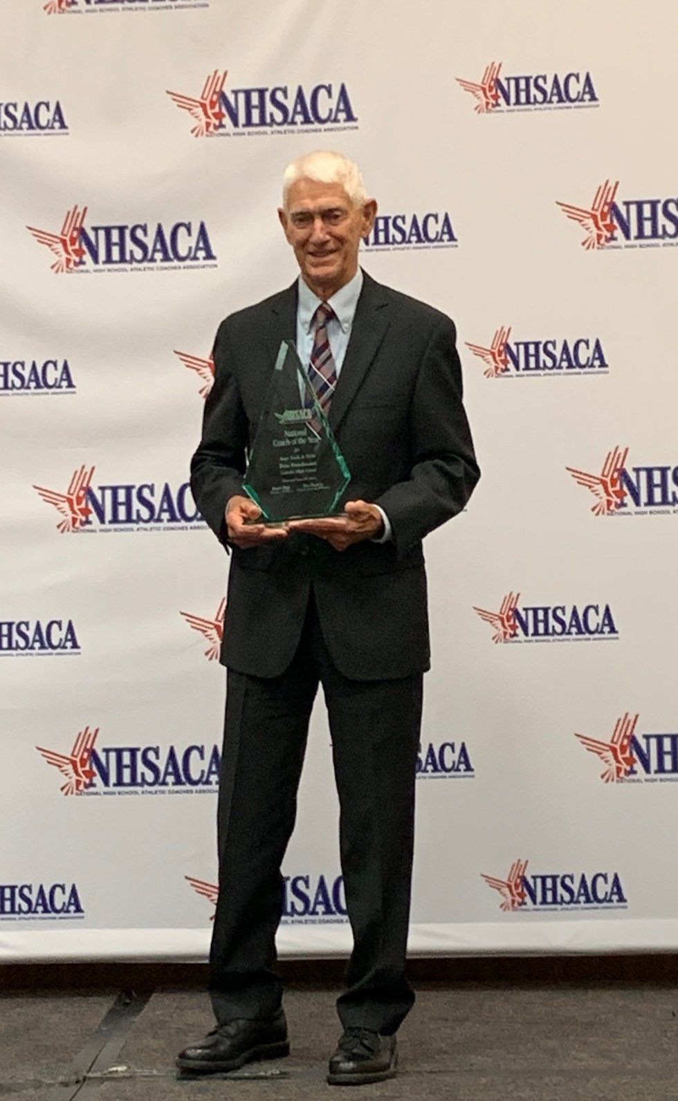 Pete Boudreaux 2019 National Track Coach of the Year.