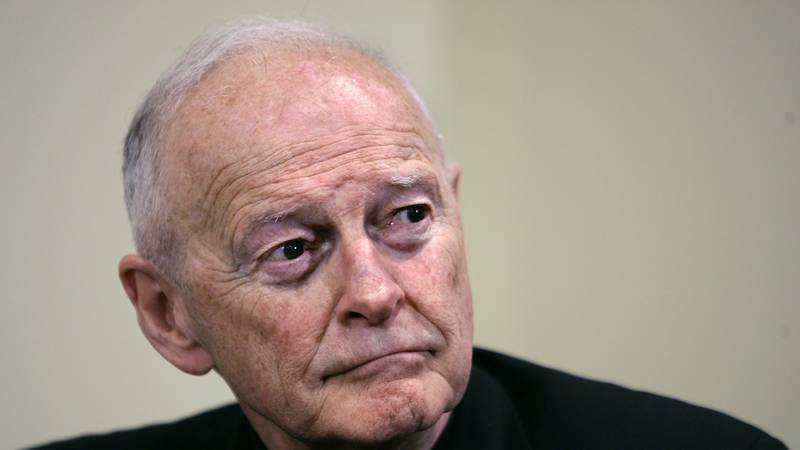 FILE - In this May 16, 2006 file photo, Cardinal Theodore McCarrick pauses during a press...