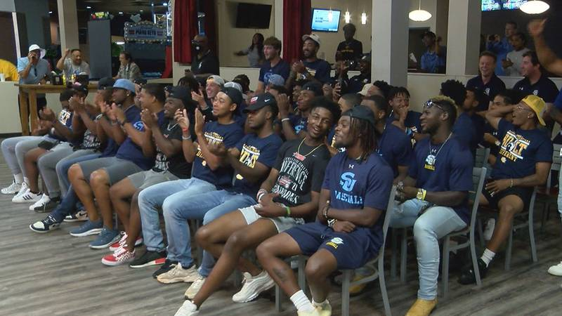 The Southern Jaguars celebrated getting placed in the Austin Regional of the NCAA Baseball...