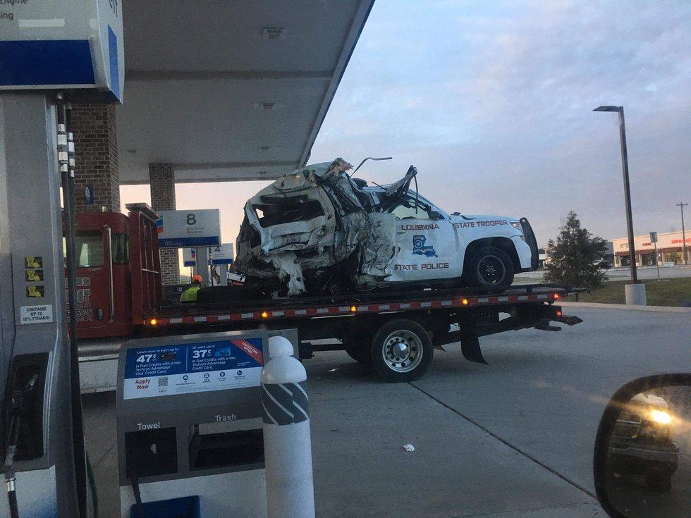 LSP unit involved in crash