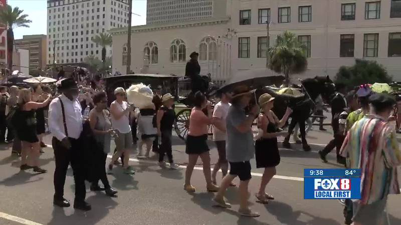 New Orleans said their final farewell to a musical legend Saturday in a way only the city can. ...