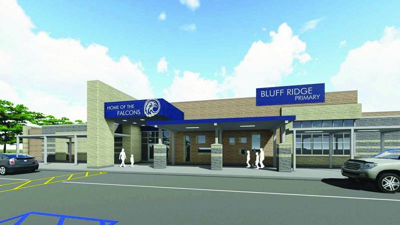 A rendering of Bluff Ridge Primary